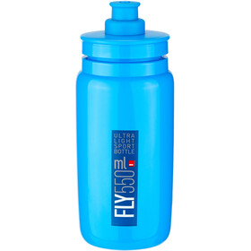 Elite Fly Bidon 550ml, blue/blue logo